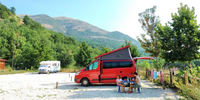aree sosta e campeggi belli. In Abruzzo. Anversa degli Abruzzi